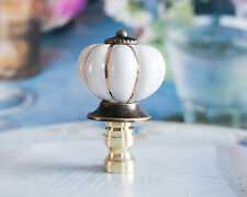 1 of White Porcelain Lamp Shade Finial, Fit Standard Harp Threads.