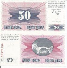 BOSNIA HERZEGOVINA 50 DINARA 1992