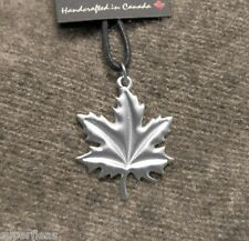 NEW Canadian Sportsman Hand Crafted Nature Pewter MAPLE LEAF Pendant NECKLACE