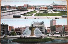 1910 Providence, RI Postcard: Railroad Station/Depot & Bajnotti Fountain