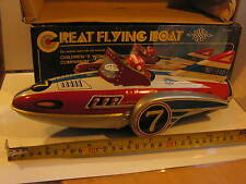 GREAT FLYING BOAT NAVIRE AERIEN  ESPACE TIN TOY JOUET TOLE 70's  FRICTION  M 742