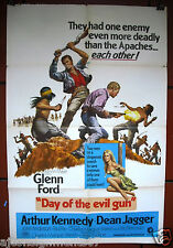"Day of the Evil Gun (Glenn Ford) 40x27"" Original 1st Movie Poster 60s"