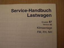 Volvo Camion FH FM NH Manuale officina Aria condizionata 11.1999