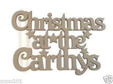 MDF Wooden Personalised Christmas Plaque