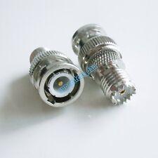 1Pcs BNC male plug to mini UHF miniUHF female jack center RF adapter connector
