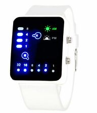White Led Binary Digital Watch Mens Fashion Casual Sport Wrist Watches UK SELLER