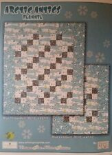 Quilt Kit, Arctic Antics Debbie Mumm Blue Flannel Baby Quilt Kit-With Backing