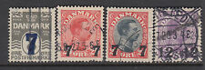 DENMARK : 1926 surcharges set  SG 234-7 used