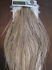Fly Tying Whiting H/M Bronze Rooster Saddle Light Tan Dun #B