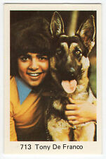 1970s Swedish Pop Star Card #713 Canadian Teen Idol Tony De Franco with alsation