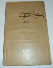 1832 AUTOPSIA DO MANIFESTO DO INFANTE D. MIGUEL by BORGES Portugal War of Succes