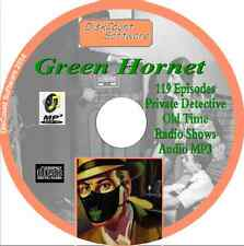 Green Hornet OTR - 119 Old Time Radio Shows - Detective  Audio MP3 CD