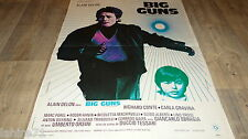 alain delon BIG GUNS    ! affiche cinema 1973