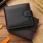 New Men's PU Leather Bifold Wallet ID Credit Card Photo Holder Coin Slim Purse