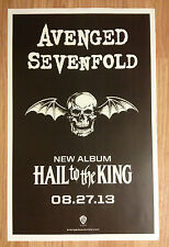Music Poster Promo Avenged Sevenfold ~ Hail To The King ~ Double Sided DS