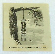 small 1878 magazine engraving ~ A RELIC OF SLAVERY IN JAMAICA