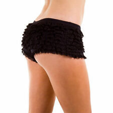 FRILLY RUFFLE KNICKERS PANTIES BURLESQUE HOT PANTS SEXY 4 Colour UK  8 10 12 14