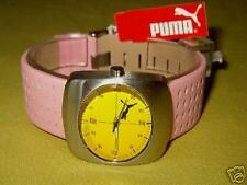 DISCONTINUED VINTAGE YELLOW FACE PINK BUBBLE PUMA SKATE BOARD SURF HAWK WATCH