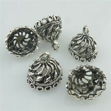 18449 25X Antique Connector for Tassel Bead End Cap Hollow Dome Pendant Filigree