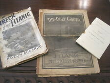TITANIC NEWSPAPER 4/20/1912, SHEET MUSIC, AND DISASTER RELIEF FUND
