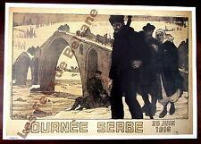 Affiche repro La Journée Serbe, 25 juin 1916 Mourgue