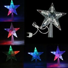 Christmas Tree Topper Star Lamp Multi Color Fairy Decoration LED Lights Hot Sale