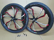 "27.5"" 650B MTB Bike Magnesium Alloy 8/9/10 Speed Disc Front Rear Wheel Set Tyres"