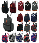Mens Boys Girls Retro Backpack Rucksack School Bag College University Travel Bag