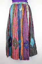 Gypsy Patchwork Hippie Bohemian Festival Cotton Skirt Dress Handmade Nepal GS1