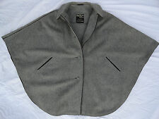 VINTAGE MADE IN AUSTRIA KANZLER WOMEN'S GREY WOOL CAPE COAT LORD & TAYLOR