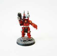 Warhammer 40k Army Chaos Space Marine Chaos lord In Terminator Armour   Painted