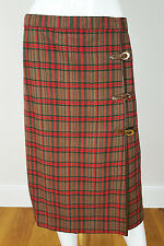 *GUCCI* VINTAGE TARTAN WOOL AND CASHMERE SKIRT (M)