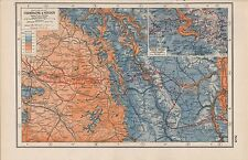 1920 MAP -WORLD WAR 1- WESTERN FRONT- CHAMPAGNE & VERDUN