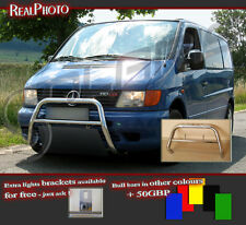 MERCEDES VITO 96-03 LOW BULL BAR WITHOUT AXLE BARS +GRATIS! STAINLESS STEEL!