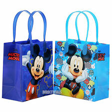 6 Pcs Mickey Mouse Authentic Licensed Small Party Favor Goodie Bags