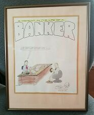 Limited Edition framed print Moment in life of a Banker 1985 J D Beran 28/100