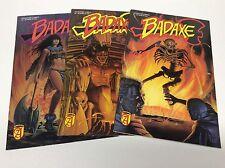 BADAXE #1-3 (ADVENTURE COMICS/1989/BURLES/OCONNOR/061658) COMPLETE SET LOT OF 3