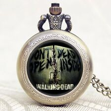 Retro Steampunk The Walking Dead TV Series Pendant Necklace Quartz Pocket Watch