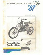 Husqvarna Parts Manual Book 1987 WR 400, CR 430, WR 430 & XC 430