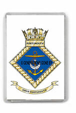 HER MAJESTY'S NAVAL BASE PORTSMOUTH FRIDGE MAGNET