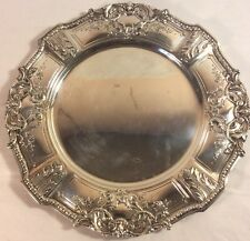 CLEVELAND SOCIALITE ANGNES MORSE (8) Custom SOLID Sterling  Service PLATES c1900
