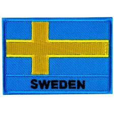Sweden Swedish National Flag Embroidered Iron on Patch