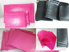 40 Assorted Size 10x16, 8.5x12, 6x9, and 4x8 Black Hot Pink Poly Bubble Mailers