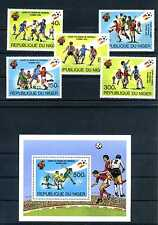 Niger 1981 Fuball WM 1982 in Spanien ** postfrisch 767 - 771 + Block 34 BR481