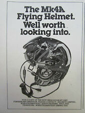 1980 PUB HELMETS LIMITED CASQUE AVIATION HELMET MK4A ORIGINAL AD
