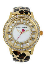 BNWTS Betsey Johnson Women's Animal Print Leather Cry Watch