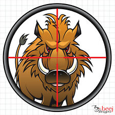 Stalk the Pork- Pig Dog Hunting crosshair boar hog gun sight decal 4WD 4x4 stick