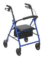 "Drive Medical Rollator w/6"" Wheels, Blue R800BL Rollator NEW"