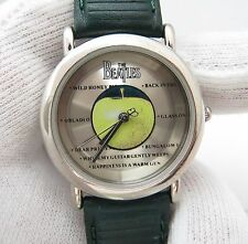 THE BEATLES,Apple Corps Ltd,Retro MEN'S WATCH,Green Apple Leather Band,1212
