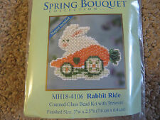 10% Off Mill Hill Spring Bouquet Collection X-stitch/Bead Kit - Rabbit Ride